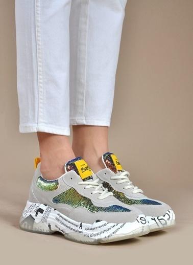 Vizon Ayakkabı Sneakers Bej